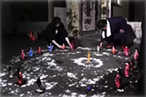 2014年6月、千葉での浄霊風景(撮影:愛の会)